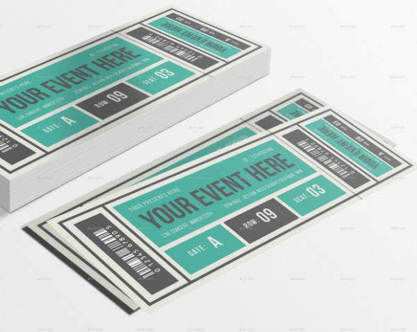 vintage event ticket design