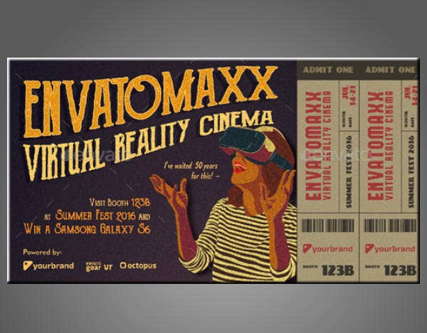 vintage movie event ticket