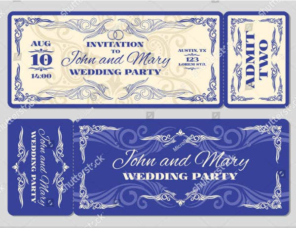 wedding invitation ticket example1