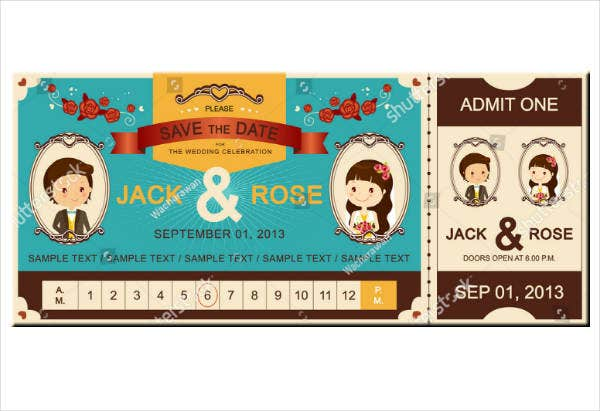 wedding invitation ticket sample