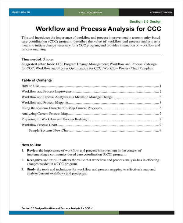workflow and process analysis