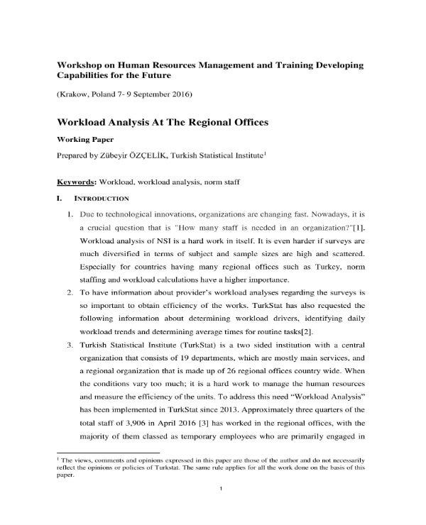 workload analysis for regional offices 1