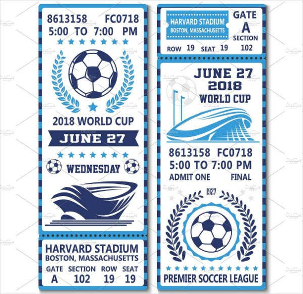 World Cup Ticket Invitation Template