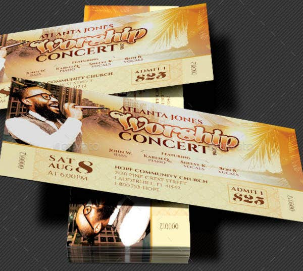 Worship Musical Concert Ticket