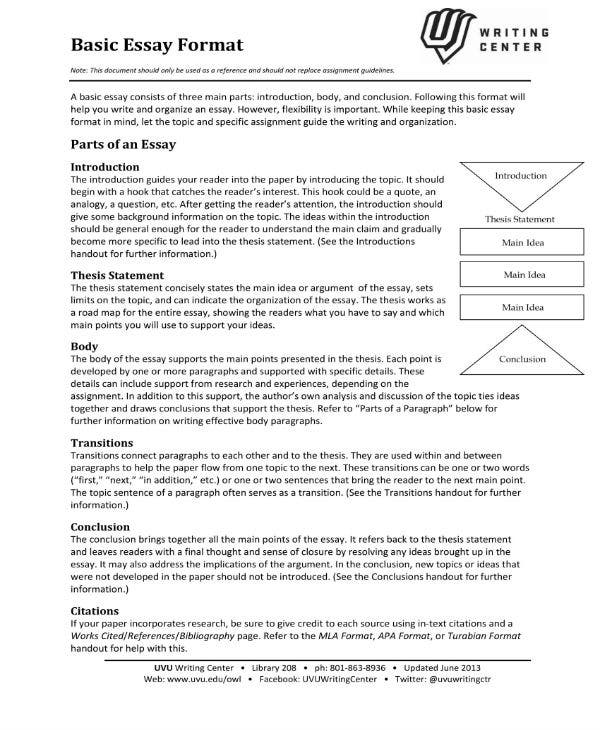 basic essay format 1