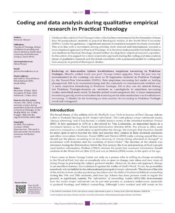 coding and data analysis in research 1