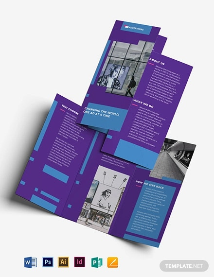 advertising company tri fold brochure template