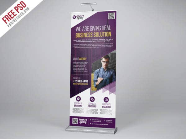 agency roll up banner psd template