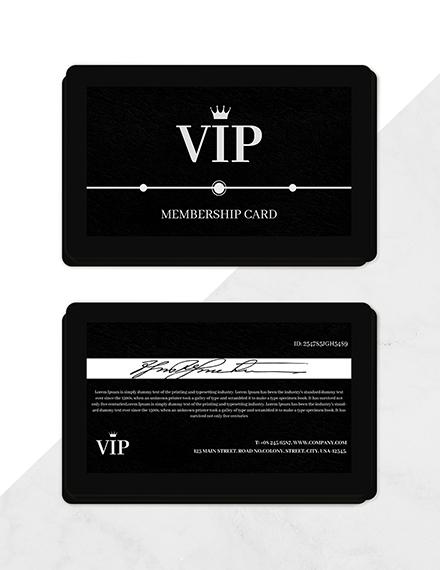 amazing membership card template
