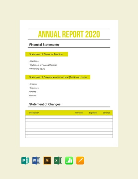 annual expense report sample