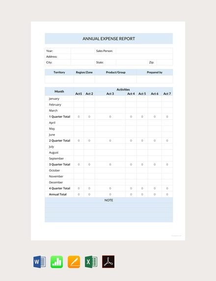 annual expense report template1