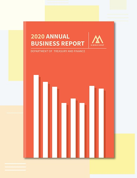 Annual Report Book Cover Template