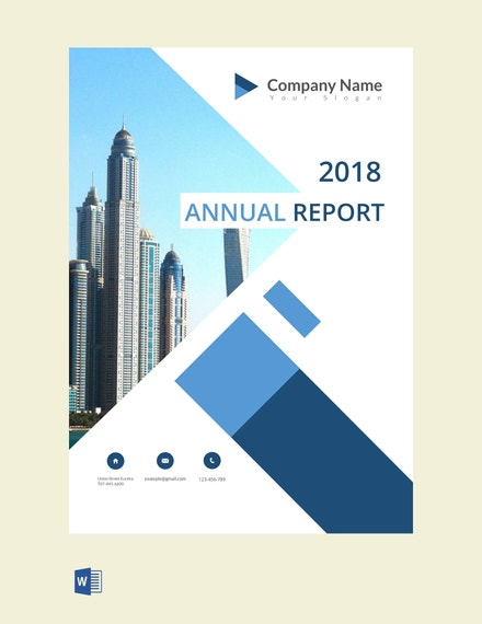 annual report cover page sample