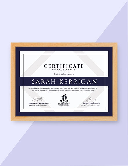 Art Achievement Certificate 1x1