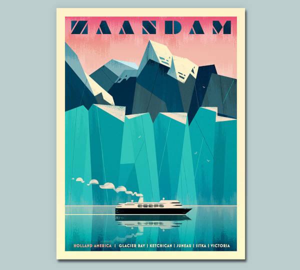 Artistic Cruise Travel Poster Sample