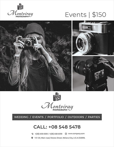 Artistic Event Photography Flyer Template