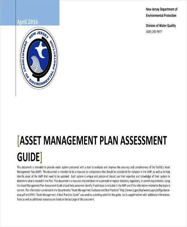asset management plan guide