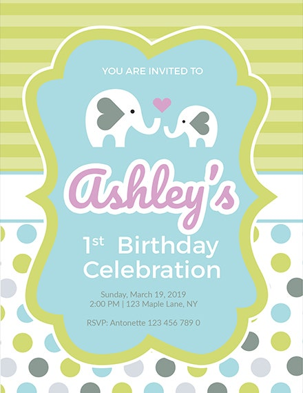 baby firsts birthday invitation template