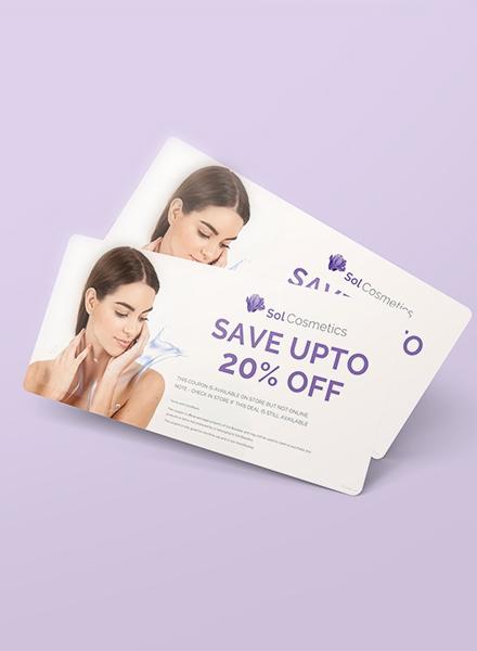 beauty cosmetics gift voucher template
