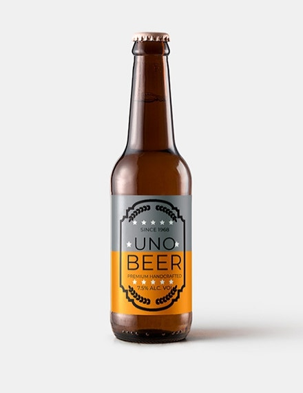 beer product label template