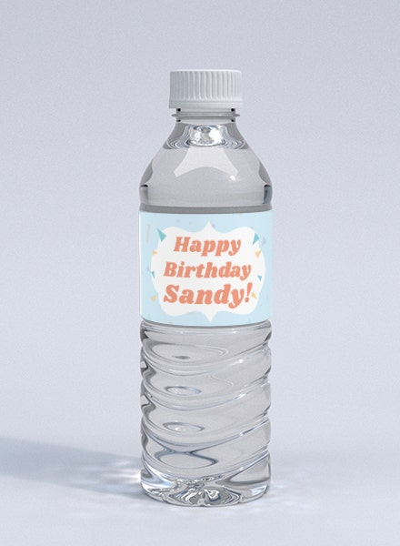 birthday bottle label
