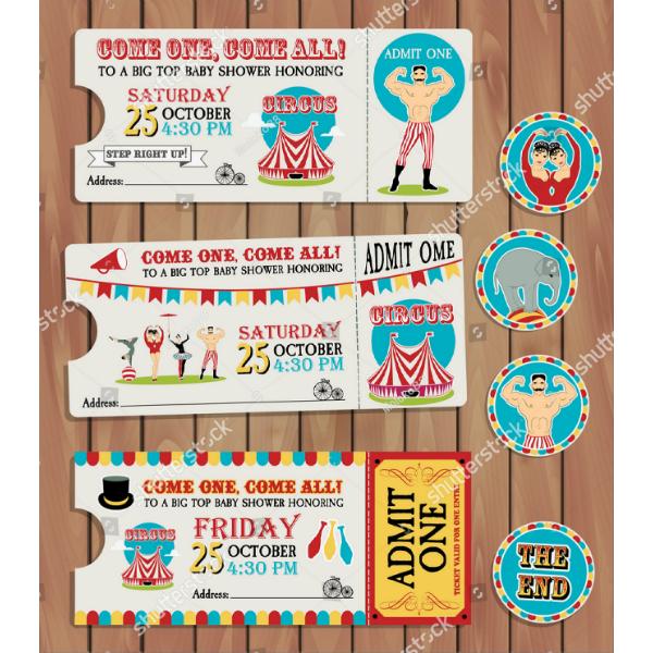 birthday event calendar ticket template