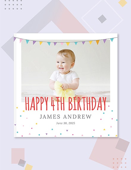 birthday photo book cover template sample