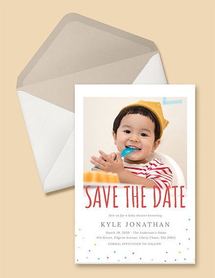 birthday save the date invitation template