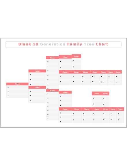 blank 10 generation family tree template slider