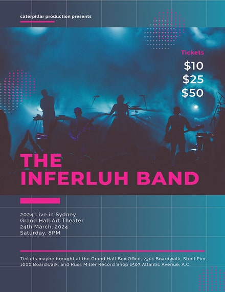 Blue Band Concert Poster Template