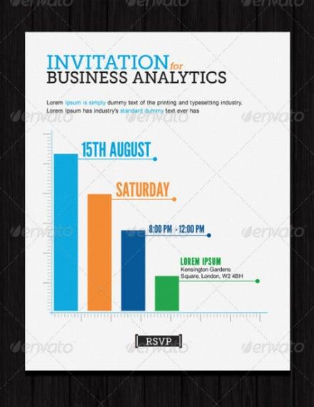 business analytics invitation card sample
