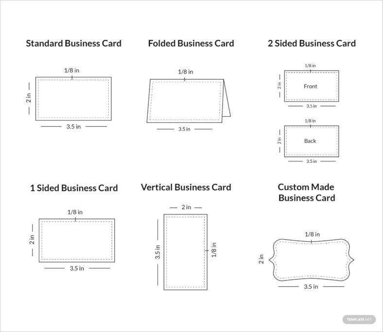 business cards sample layout infographic 788x683