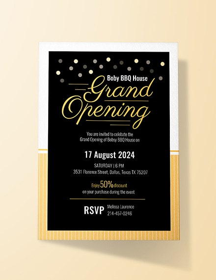 business grand opening invitation template