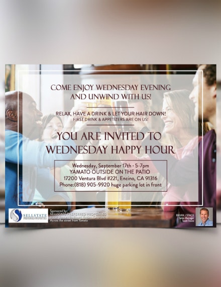 business happy hour invitation template