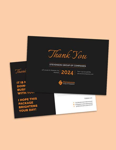 business thank you postcard design
