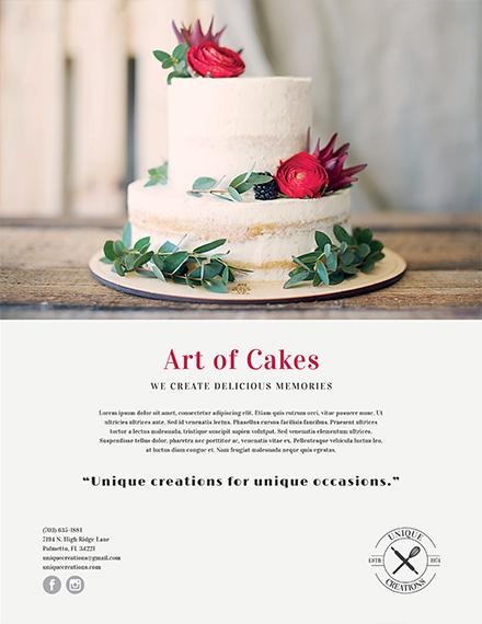 cake art business flyer template