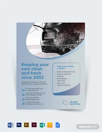 car wash flyer template1