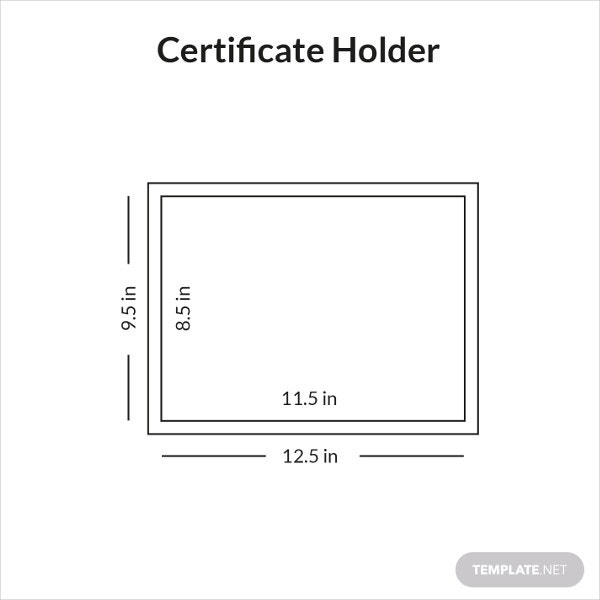 certificate holder template