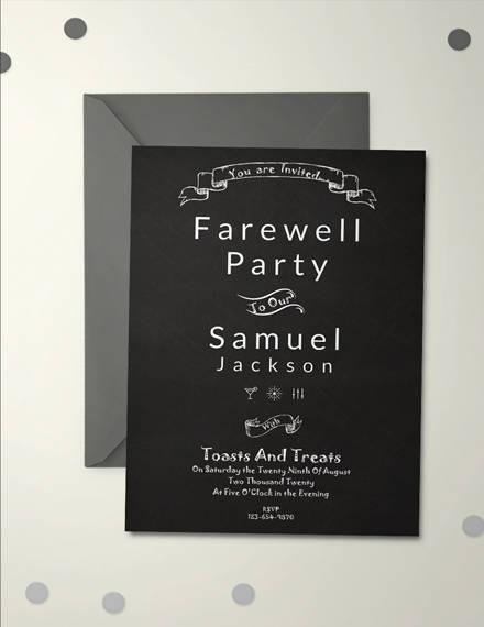 Chalkboard Farewell Party Invitation