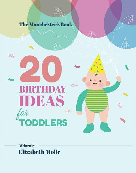 Childrens Birthday Book Cover Template