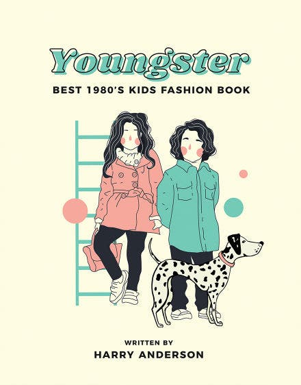 Childrens Fashion Book Cover Template