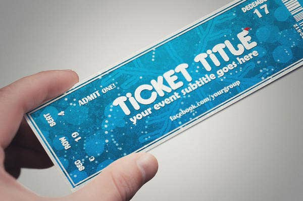 Christmas Event Ticket Template