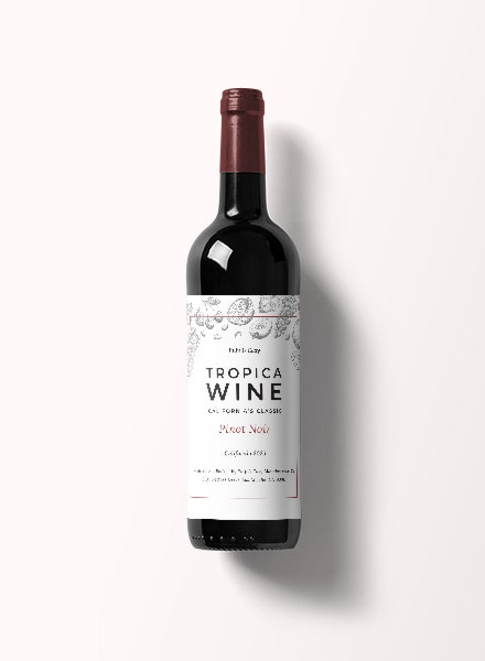 classic wine bottle label template