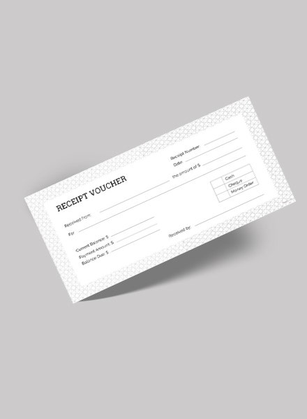 clean minimal receipt voucher design