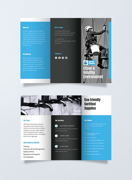 cleaning company advertising brochure example