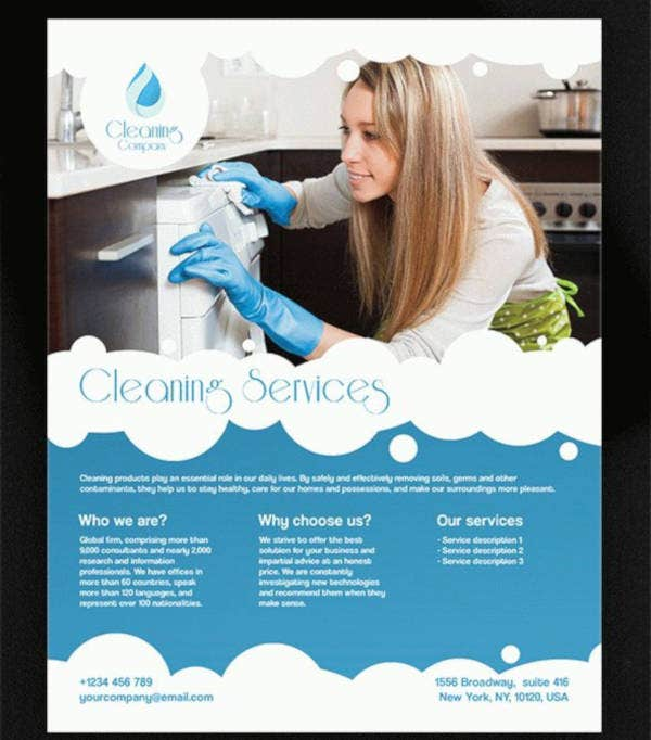 cleaning service psd flyer