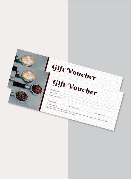 coffee shop gift voucher sample