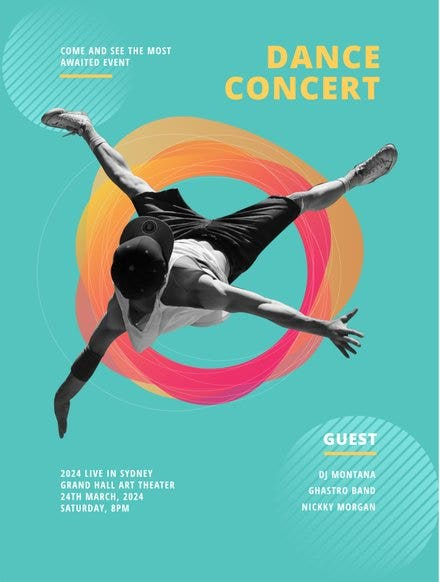 Colored Dance Concert Poster Template