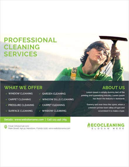 commercial cleaning service flyer