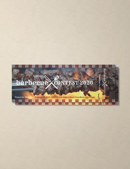 company barbecue event ticket template